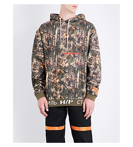 HERON PRESTON Forest cotton hoody (No+colour+multi