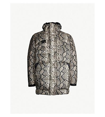 HERON PRESTON Snake-print shell-down jacket (Multicolor