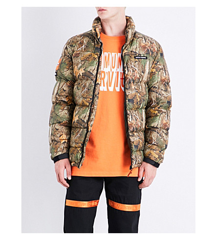 HERON PRESTON Forest shell puffer jacket (All+over+multi