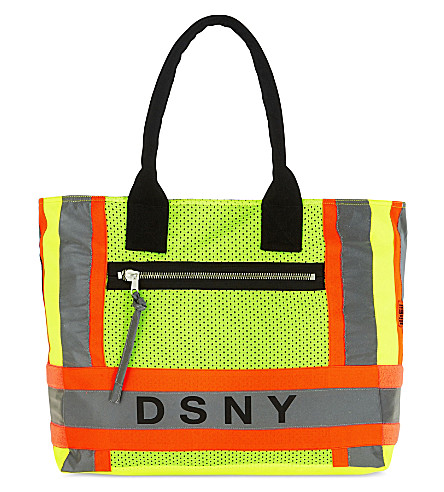 HERON PRESTON Heron Preston x DSNY medium canvas tote (Yellow+orange