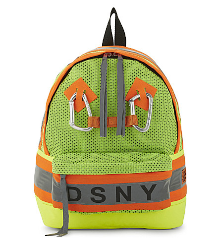 HERON PRESTON Heron Preston x DSNY nylon backpack (Yellow