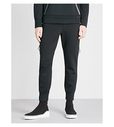 BLACKBARRETT Panelled jersey jogging bottoms (Black