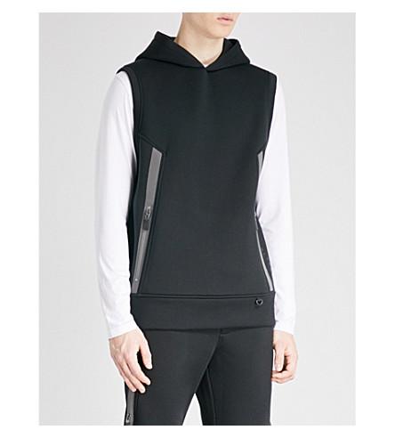 BLACKBARRETT Sleeveless jersey hoody (Black