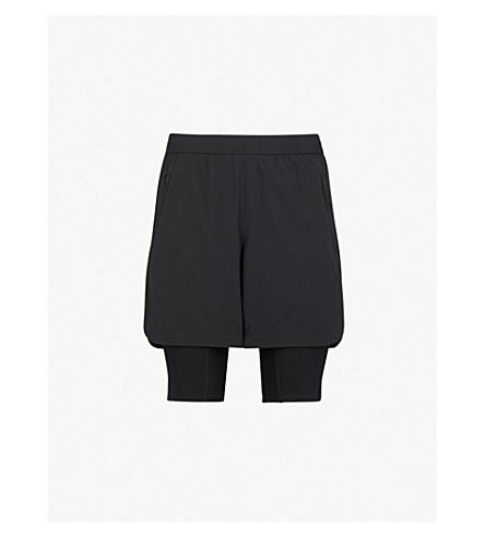 BLACKBARRETT Side-stripe shell shorts (Black