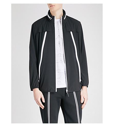 BLACKBARRETT Contrast-zip shell jacket (Black