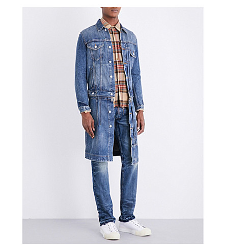 NOUNION Zip-waist denim jacket (Blue