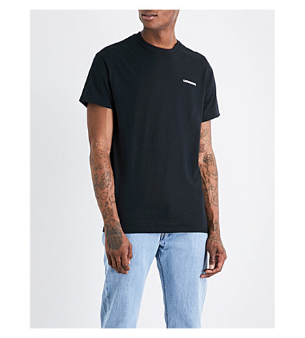 LIVINCOOL Logo-embroidered cotton T-shirt (Black