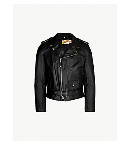 SCHOTT Perfecto asymmetric leather jacket (Black