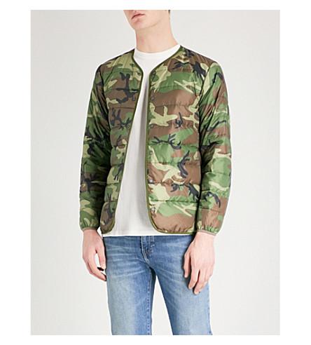 STAMMBAUM Camouflage-print shell-down jacket (Woodland