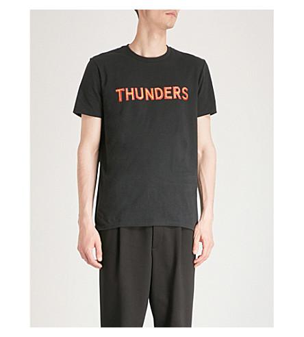 de Camiseta con de estampado THUNDERS Negro amarillo algodón logo jersey rojo f1B1wnCdq