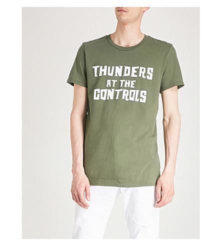 THUNDERS Logo-print cotton-jersey T-shirt