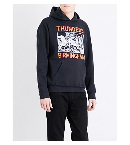 THUNDERS Birmingham-print cotton-jersey hoody (Black