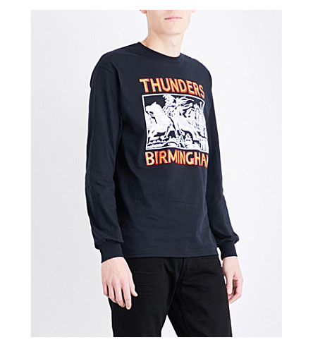 THUNDERS Birmingham-print cotton-jersey top (Black