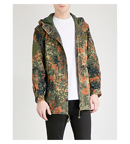 THUNDERS Manchester camouflage-print parka jacket (Camo