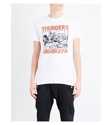 THUNDERS Birmingham-print cotton-jersey T-shirt (White