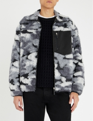 TAAKK 外壳-镶板 伪装-打印 羊毛 夹克 in Mono