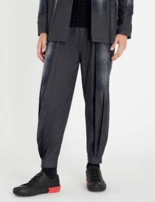 TAAKK 绘 苗条-适合 织 和 棉 裤子 in Navy