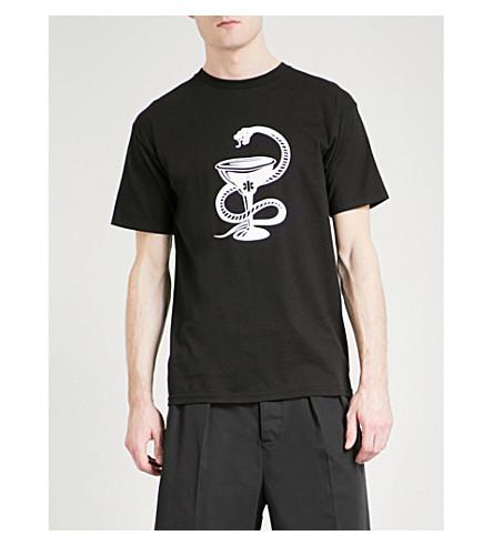 DRXI Dr Romanelli x Interscope Serpent cotton-jersey T-shirt (Black
