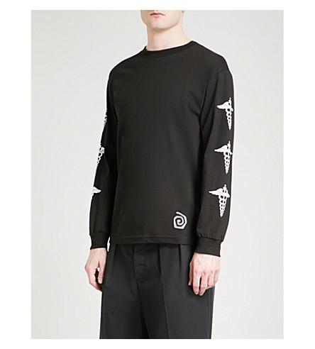 DRXI Dr Romanelli x Interscope Caduceus cotton-jersey top (Black