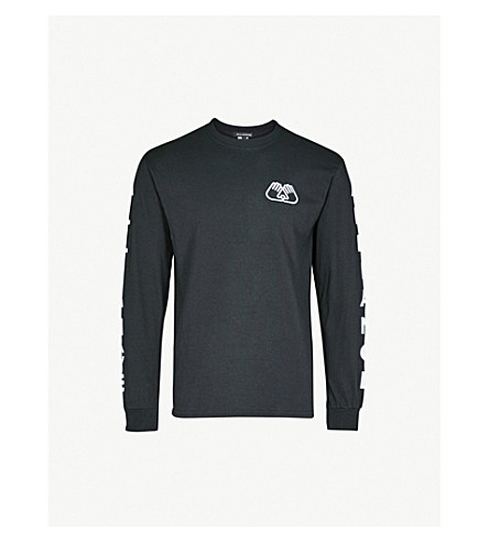 ALLIANCE Logo-print cotton-jersey top (Black