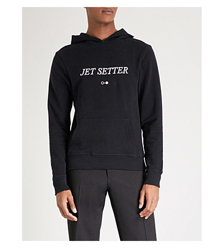 A BLACK AND WHITE STORY Jet Setter cotton-jersey hoody (Black