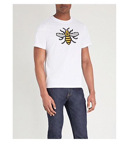 MOSTLY HEARD RARELY SEEN Manchester printed cotton-jersey T-shirt (White