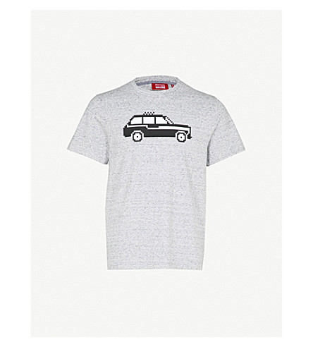 MOSTLY HEARD RARELY SEEN Black cab cotton-jersey T-shirt (Heathery grey