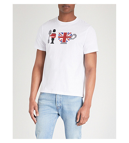 MOSTLY HEARD RARELY SEEN Graphic print cotton-jersey T-shirt (White