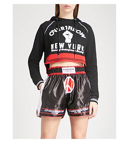 OVERTHROW Lamyland Brooklyn cotton-jersey hoody (Black