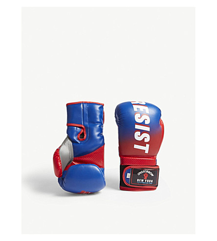 OVERTHROW Lamyland Resist and Unity boxing gloves 16oz (Red+blue