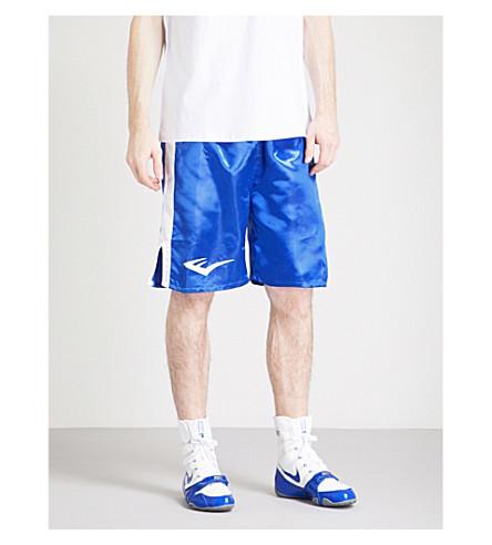 EVERLAST Lamyland satin boxing shorts (Blue+white