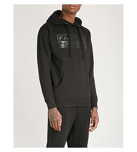 FAMOUS NOBODYS Lamyland cotton-jersey hoody (Black+black
