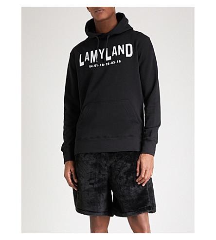 LAMYLAND Logo-print cotton-jersey hoody (Black