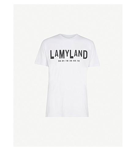 LAMYLAND Logo-print cotton-jersey T-shirt (White