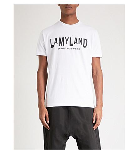 LAMYLAND 徽标-印花棉衫 t恤衫 (白色