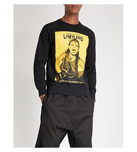 LAMYLAND Michèle-print cotton-jersey sweatshirt (Black