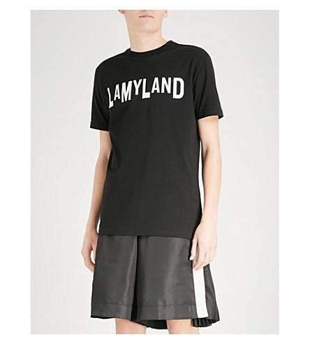 LAMYLAND Logo-print cotton-jersey T-shirt (Black