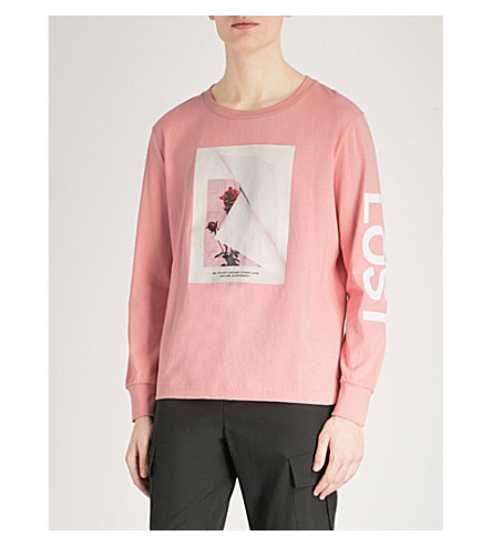 PROFOUND AESTHETIC Love-print cotton-jersey sweatshirt (Pink