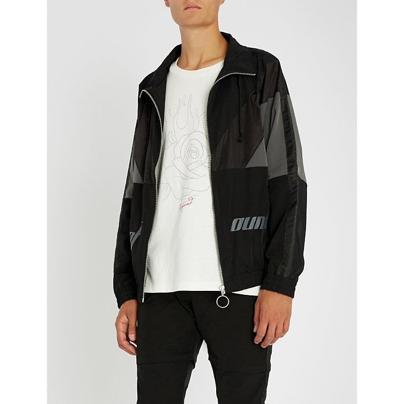 PROFOUND AESTHETIC Satin stripe shell jacket