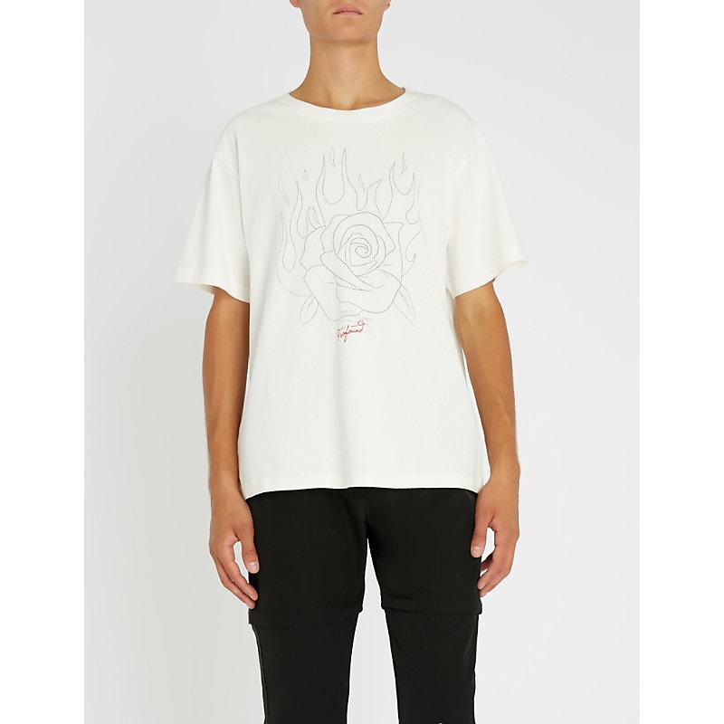 PROFOUND AESTHETIC Burning Rose cotton-jersey T-shirt