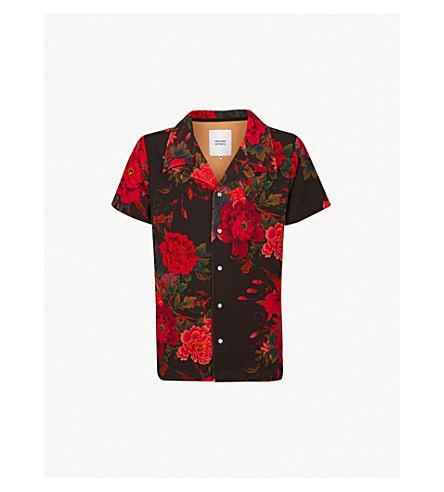 PROFOUND AESTHETIC Wild Parrots regular-fit woven shirt (Black+multi