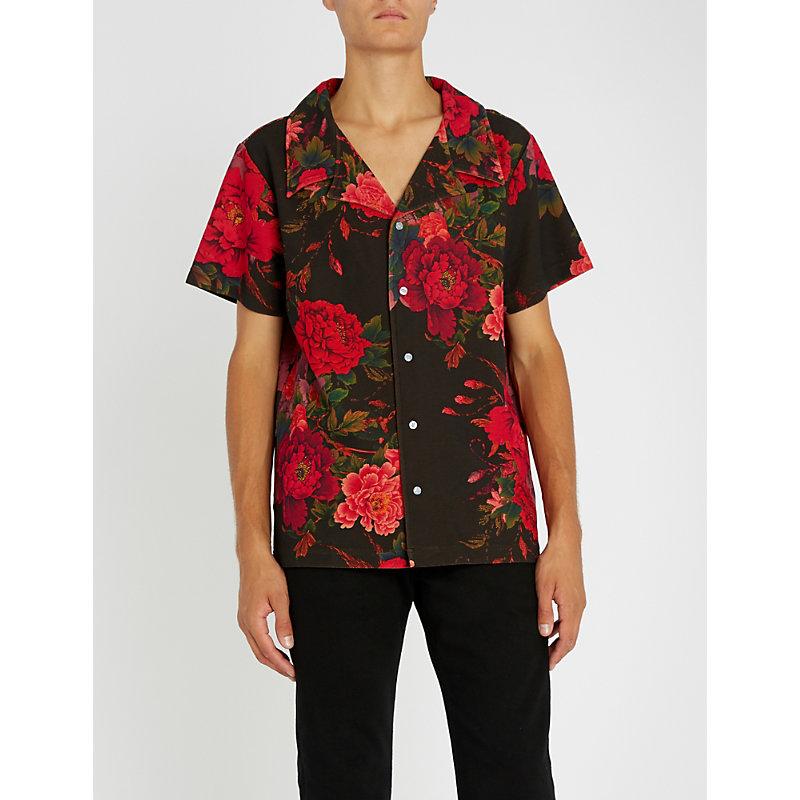 PROFOUND AESTHETIC Wild Parrots regular-fit woven shirt