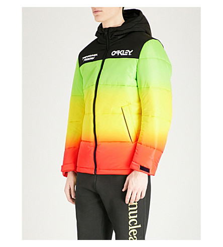 OAKLEY Thermonuclear padded shell puffer jacket (Stripe