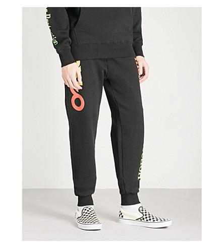 OAKLEY Thermonuclear logo-print cotton-jersey jogging bottoms (Blackout