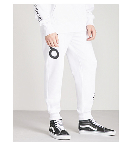 OAKLEY Thermonuclear logo-print cotton-jersey jogging bottoms (White