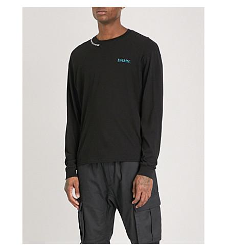 TDE Kendrick Lamar DAMN. Official Merch cotton-jersey top (Black