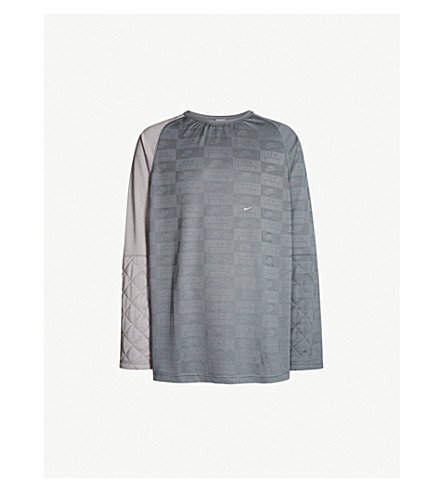 A-COLD-WALL X NIKE A-COLD-WALL x Nike logo-print stretch-jersey top (Grey