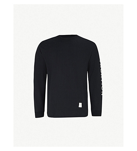 MAGIC STICK Vacation-print cotton-jersey top (Black
