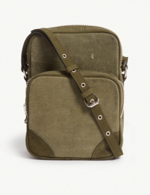 READYMADE Vintage Canvas Small Shoulder Bag in Green