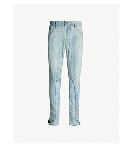 VAL KRISTOPHER Ankle Lock slim-fit straight-leg jeans (Bleached light wash blue